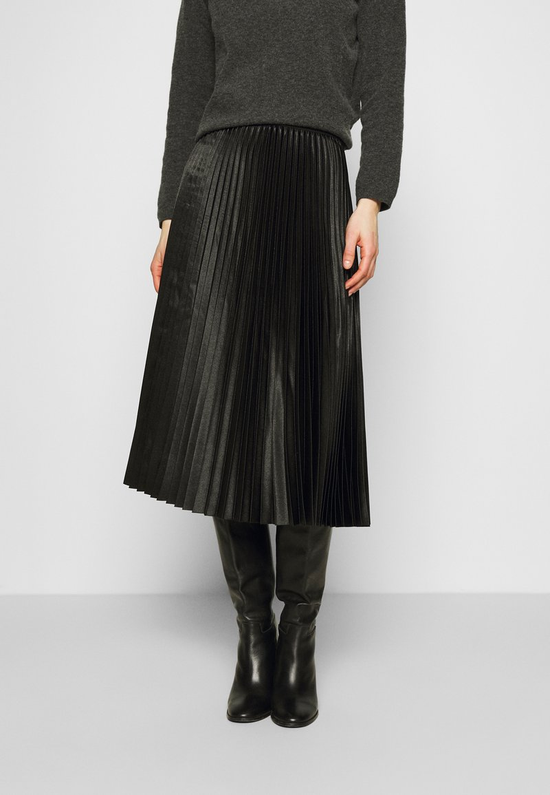 Opus - RURY - Pleated skirt - black