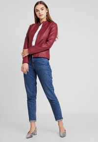 JDY - JDYDALLAS JACKET - Faux leather jacket - pomegranate - 1