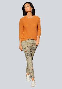 Alba Moda - Trousers - beige,pfirsich,schwarz - 1
