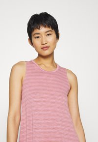 Madewell - HIGHPOINT TANK DRESS IN STRIPE - Jersey dress - weathered berry - 4
