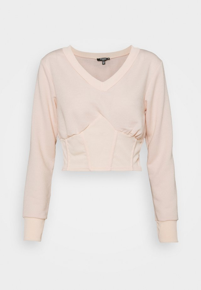 CORSET - Sweater - baby pink