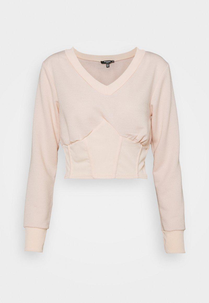 Missguided Petite - CORSET - Sweatshirt - baby pink