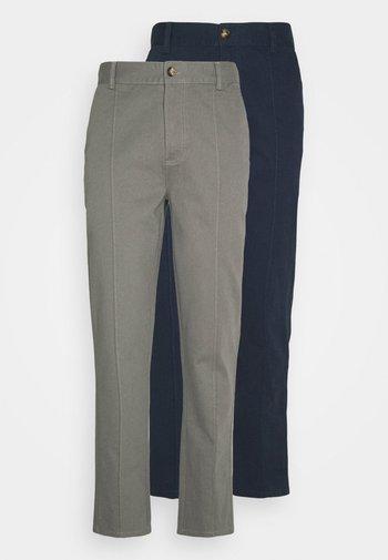 TROUSER 2 PACK - Pantalon classique - navy/grey