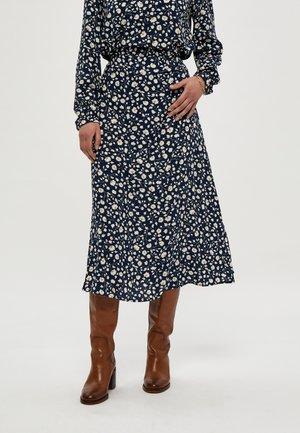 LEAH  - A-line skirt - d  blue p