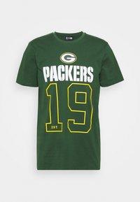 New Era - GREEN BAY PACKERS NFL ON FIELD GRAPHIC TEE - Club wear - dark green - 0