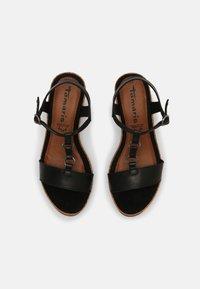 Tamaris - Sandały na platformie - black - 5