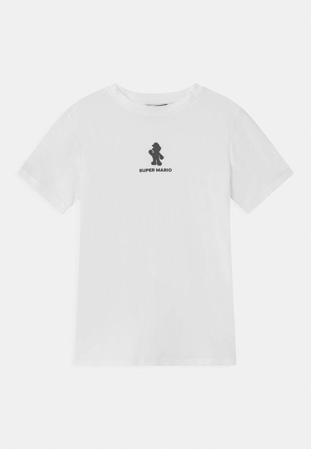 NLMMARIO MATTEO  - T-shirts med print - bright white