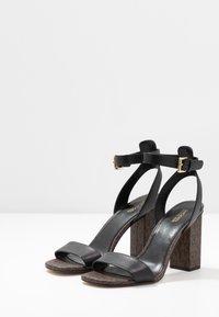 MICHAEL Michael Kors - PETRA - High heeled sandals - black/brown - 4