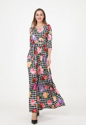 KOMBINA - Maxi dress - weiß schwarz