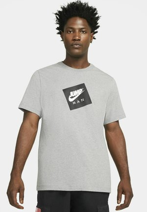 JUMPMAN BOX CREW - T-shirt con stampa - carbon heather/black