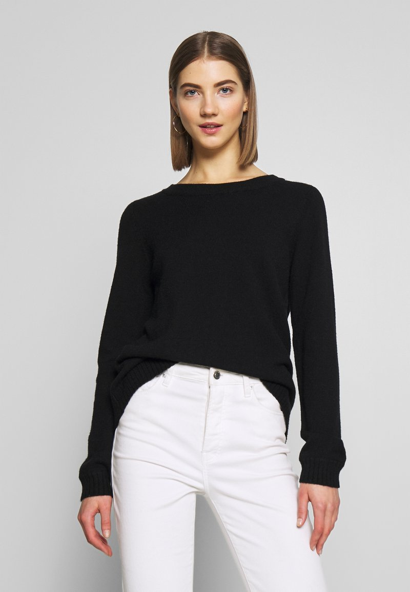 Vila - VIRIL OPEN BACK - Pullover - black