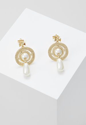 PEARL DROP EARRINGS - Pendientes - rhodium