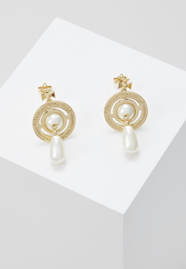 PEARL DROP EARRINGS - Örhänge - rhodium