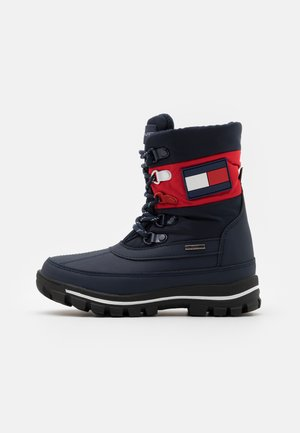 UNISEX - Winter boots - blue/red