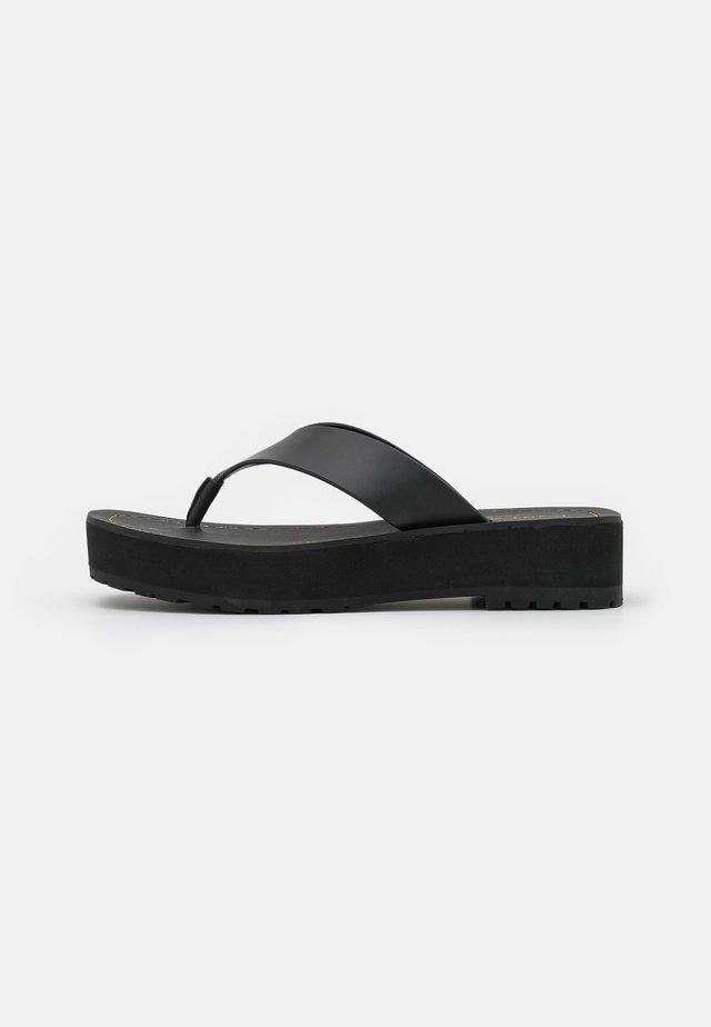 RAINBOW STITCH - T-bar sandals - black
