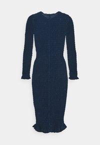 Never Fully Dressed Petite - SHEER SHIRRED MIDI DRESS - Maxi dress - navy - 1