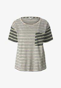 TOM TAILOR - Print T-shirt - beige black offwhite stripe - 4