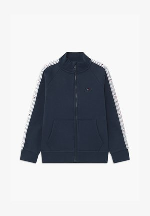 TAPE FULL-ZIP - Zip-up hoodie - blue