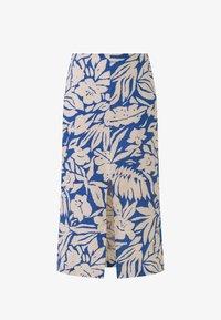 OYSHO - TROPICAL  - A-line skirt - blue - 4
