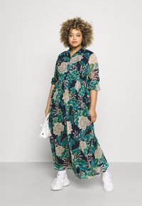 VILA CURVE - VIERICA ANKLE DRESS - Maxi dress - blue - 1