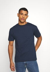 Newport Bay Sailing Club - MULTI TEE AUTUMN 3 PACK - Camiseta básica - oliv/dark blue/black - 1