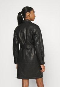 Topshop - BELTED SHAKETT - Short coat - black - 2