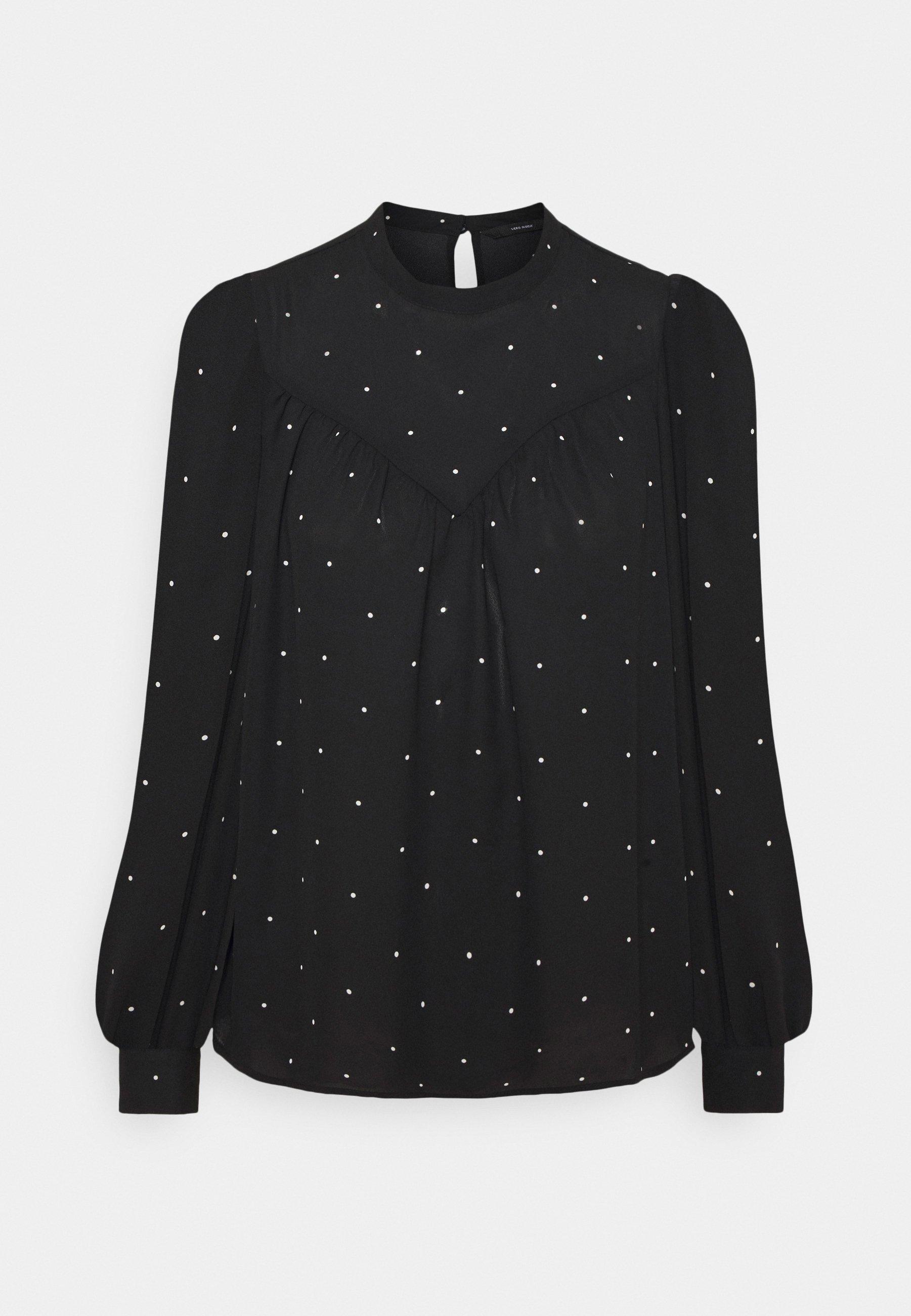 Women VMMARLEY - Long sleeved top - black/birch