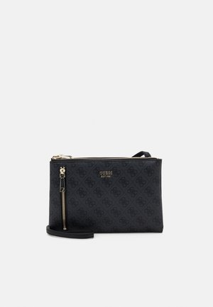 NAYA DOUBLE ZIP CROSSBODY - Schoudertas - coal