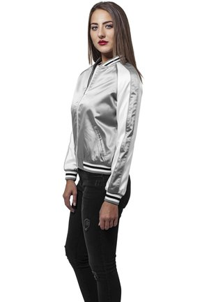 Bomber Jacket - silver/offwhite