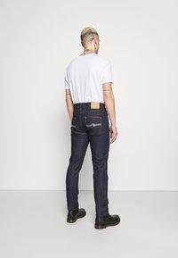 Nudie Jeans - LEAN DEAN - Džíny Slim Fit - dry ecru embo - 2