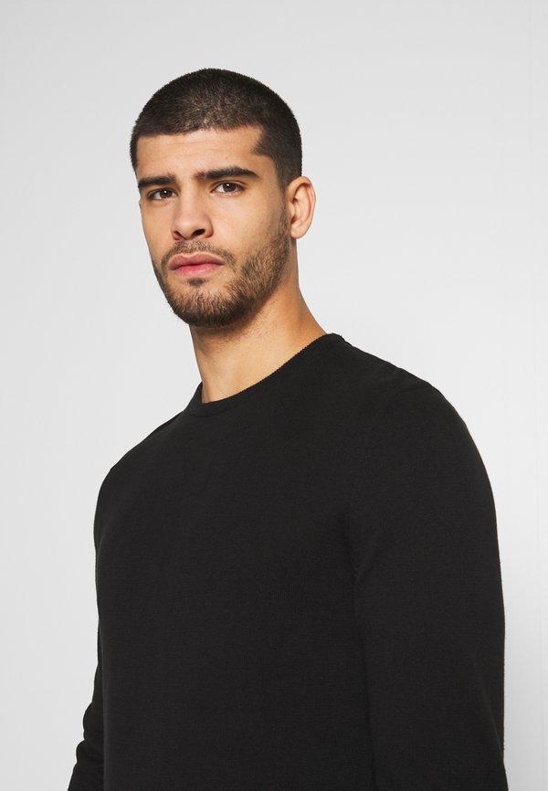 Pier One 2 PACK - Sweter - black/bordeaux/czarny Odzież Męska EFAW
