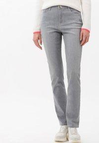 BRAX - STYLE CAROLA - Slim fit jeans - used light grey - 0