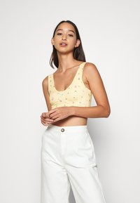 Monki - MOA SINGLET - Top - yellow - 0