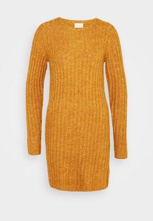 VINIKKI O-NECK DRESS - Gebreide jurk - pumpkin spice/melange