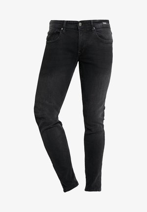 CULVER STRETCH - Skinny džíny - used dark stone black/denim grey