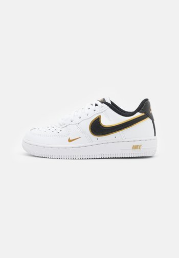 FORCE 1 LV8 UNISEX - Sneakers - white/black/metallic gold