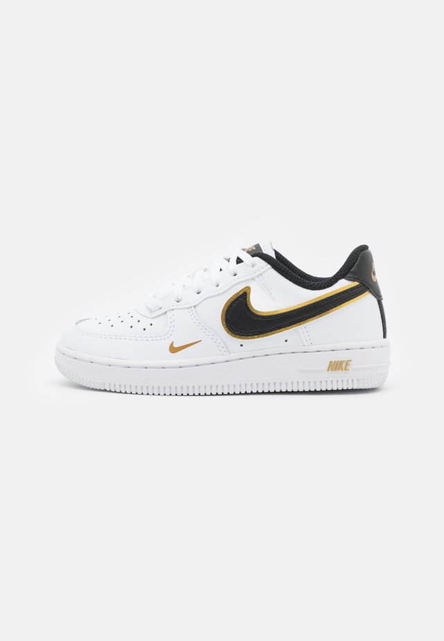 FORCE 1 LV8 UNISEX - Sneakers laag - white/black/metallic gold