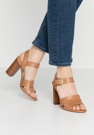 CAPAROSA - High heeled sandals - cognac