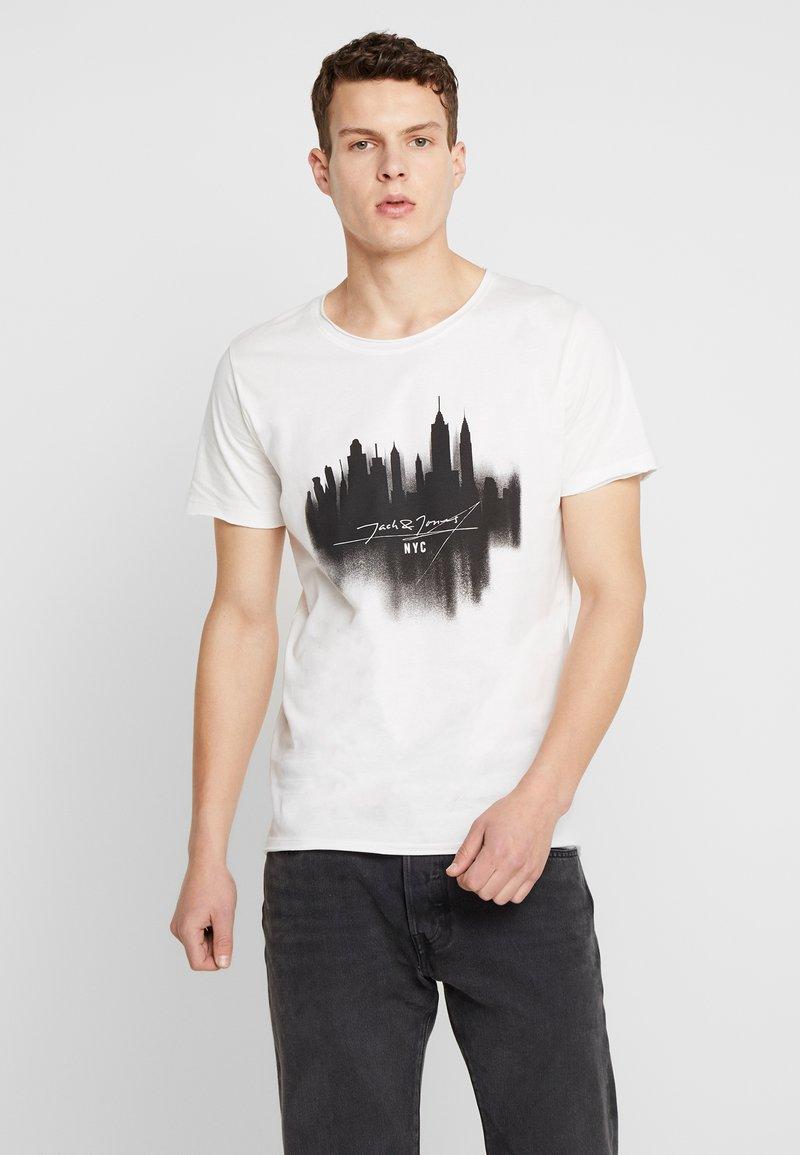 Jack & Jones - JORDARK CITY TEE CREW NECK REGULAR - T-shirt print - cloud dancer
