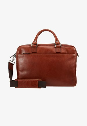 BUDDY - Briefcase - cognac