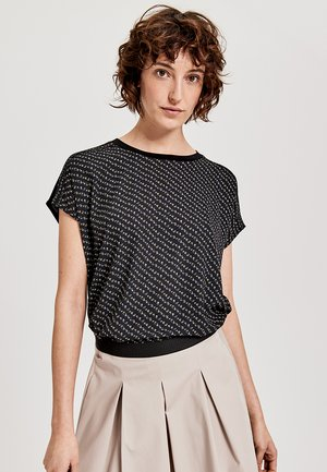 SIAS PRINT - Print T-shirt - black