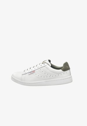 Trainers - white military olive