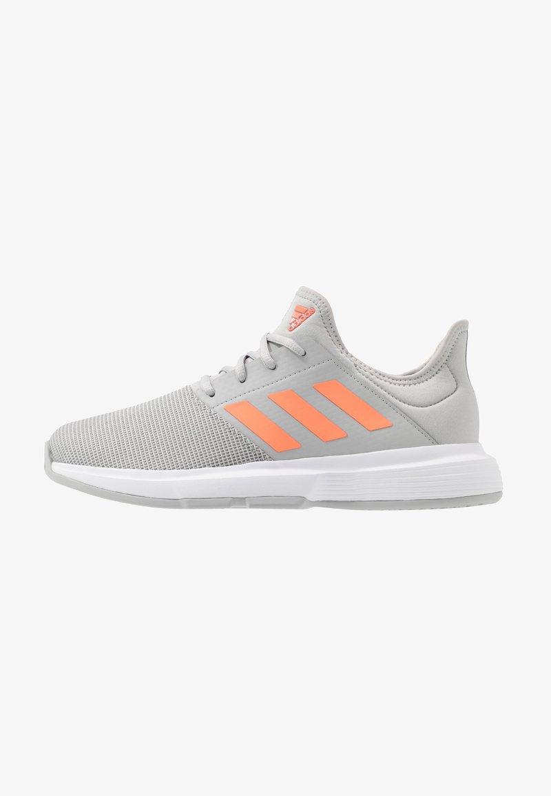 adidas Performance - GAMECOURT - Multicourt tennis shoes - grey two/signal orange/grey three
