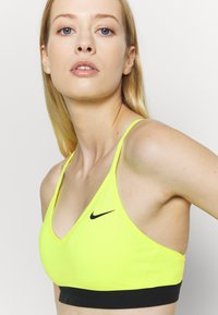 Nike Performance - INDY BRA - Sport BH - volt/black - 4