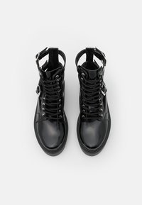 Topshop - BABE CUT OUT BUCKLE BOOT - Lace-up ankle boots - black - 5