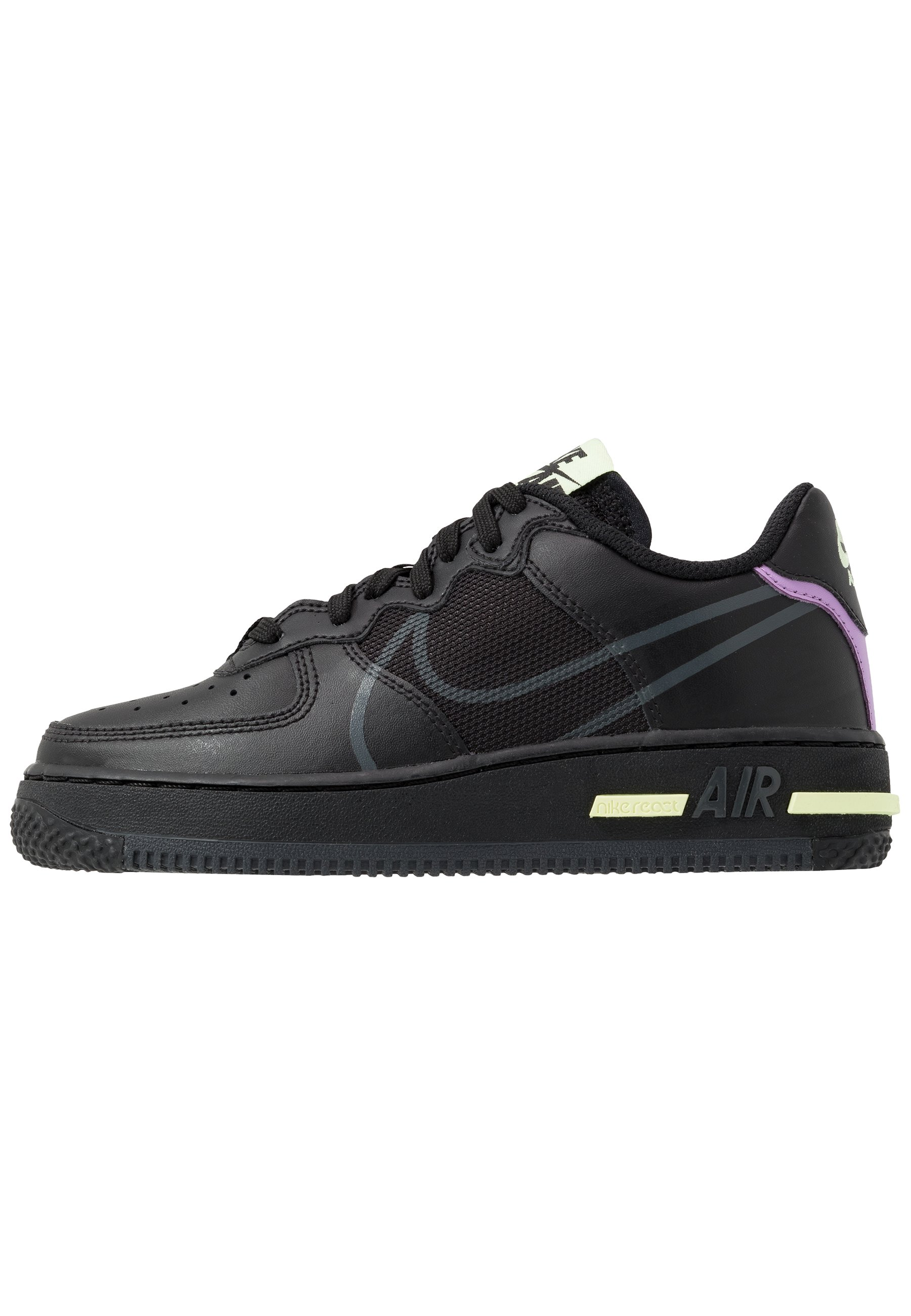 Nike Sportswear AIR FORCE 1 REACT - Baskets basses - black ...