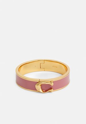 LARGE HINGED BANGLE - Bracelet - gold-coloured/ dusty rose