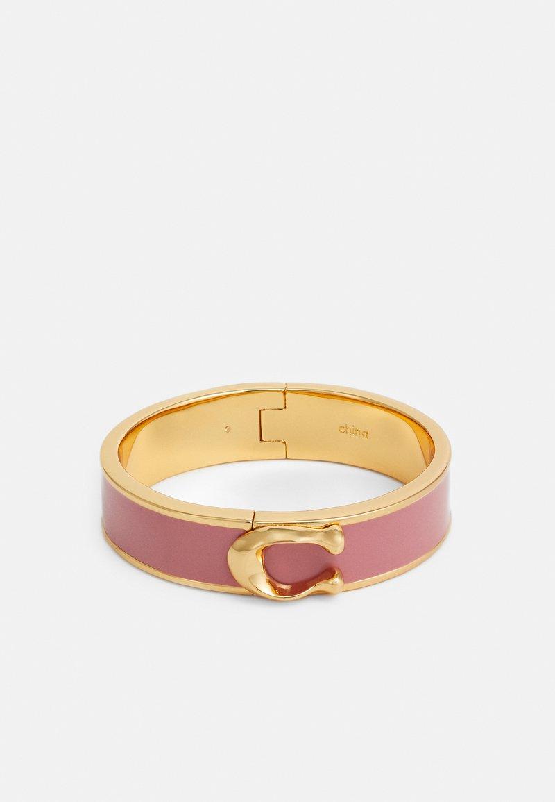 Coach - LARGE HINGED BANGLE - Bracelet - gold-coloured/ dusty rose