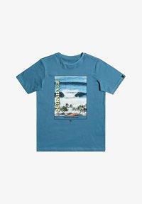 Quiksilver - SCENIC DRIVE  - Print T-shirt - captains blue - 0