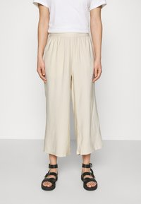 Even&Odd - Cropped wide leg trouser - Trousers - off white - 0